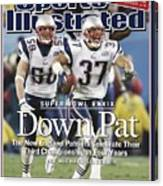 New England Patriots Rodney Harrison And Mike Vrabel, Super Sports Illustrated Cover Canvas Print