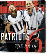 New England Patriots, Super Bowl Liii Champions Sports Illustrated Cover Canvas Print