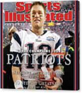 New England Patriots, Super Bowl Xxxix Champions Sports Illustrated Cover Canvas Print