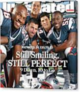 New Enlgand Patriots Linebackers Sports Illustrated Cover Canvas Print