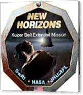 New Horizons Extended Mission Logo Canvas Print