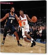 New Orleans Pelicans V New York Knicks Canvas Print