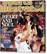 New Orleans Saints Qb Drew Brees, Super Bowl Xliv Sports Illustrated Cover Canvas Print