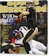 New Orleans Saints Vs Minnesota Vikings, 2010 Nfc Sports Illustrated Cover Canvas Print