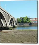 new road bridge across river Tweed at Berwick-upon-tweed Canvas Print