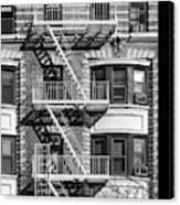 New York City Fire Escapes Canvas Print