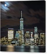 New York City Skyline At Night Canvas Print
