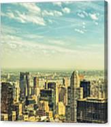New York City Skyline With Central Park Canvas Print
