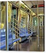 New York City Empty Subway Car Canvas Print