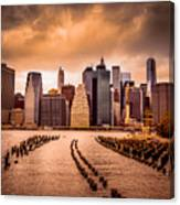 New York City View Of Lower Manhattan Canvas Print