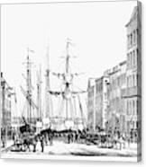New York Docks, 1856 Canvas Print