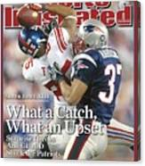 New York Giants David Tyree, Super Bowl Xlii Sports Illustrated Cover Canvas Print