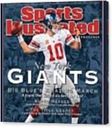 New York Giants Qb Eli Manning, Super Bowl Xlvi Champions Sports Illustrated Cover Canvas Print