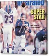New York Giants Qb Phil Simms, Super Bowl Xxi Sports Illustrated Cover Canvas Print