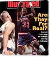 New York Knicks Patrick Ewing... Sports Illustrated Cover Canvas Print