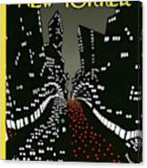 New York Lights Up Canvas Print