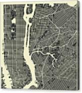 New York Map 3 Canvas Print