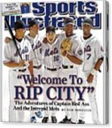 New York Mets Carlos Beltran, David Wright, Paul Lo Duca Sports Illustrated Cover Canvas Print