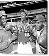 New York Mets Dwight Gooden Laughs Off Canvas Print
