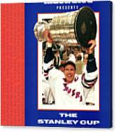 New York Rangers Mark Messier, 1994 Nhl Stanley Cup Finals Sports Illustrated Cover Canvas Print
