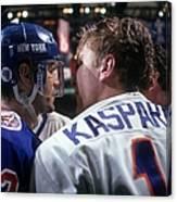 New York Rangers V New York Islanders Canvas Print