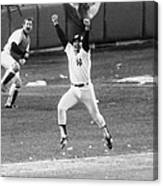New York Yankees Chris Chambliss Jumps Canvas Print