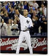 New York Yankees Derek Jeter Breaks Lou Canvas Print