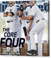New York Yankees Derek Jeter, Jorge Posada, Mariano Rivera Sports Illustrated Cover Canvas Print