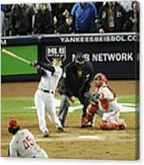 New York Yankees Hideki Matsui Hits Canvas Print