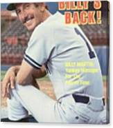 New York Yankees Manager Billy Martin Sports Illustrated Cover Canvas Print
