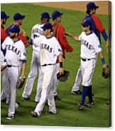 New York Yankees V Texas Rangers, Game 2 Canvas Print