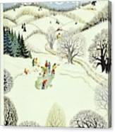 New Yorker February 1st 1947 Canvas Print