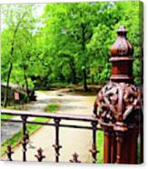 New York's Central Park Winterdale Arch Railing Cast Iron Art Canvas Print