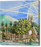 Nice Waterfront Canvas Print