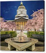 Night At The Capitol Canvas Print