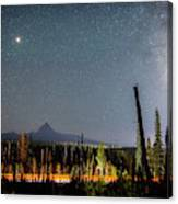 Night On Santiam Pass Canvas Print