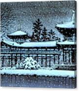 Night Snow In The Houodo - Digital Remastered Edition Canvas Print