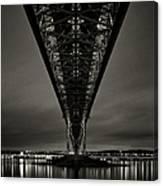 Night View Of Forth Road Bridge Canvas Print