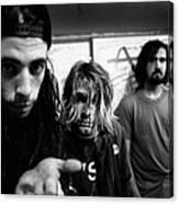 Nirvana Posed In Frankfurt 1991 Canvas Print