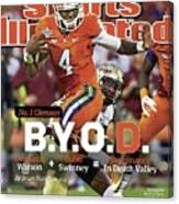 No.1 Clemson B.y.o.d. Sports Illustrated Cover Canvas Print