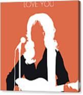 No273 My Dolly Parton Minimal Music Poster Canvas Print