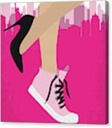 No987 My Working Girl Minimal Movie Poster Canvas Print