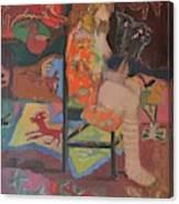 Noa With Animal Mask Canvas Print