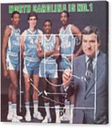 North Carolina Coach Dean Smith And Team Sports Illustrated Cover Canvas Print