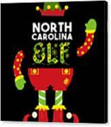 North Carolina Elf Xmas Elf Santa Helper Christmas Canvas Print