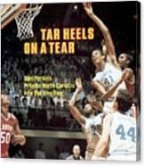 North Carolina Sam Perkins, 1982 Ncaa East Regional Playoffs Sports Illustrated Cover Canvas Print