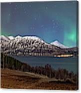 Northern Lights Over Grytoya Canvas Print