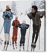 Norway, Danish Royal Family Skiing Canvas Print