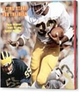 Notre Dame Vagas Ferguson... Sports Illustrated Cover Canvas Print