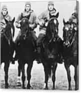 Notre Dames Four Horsemen Of Football Canvas Print
